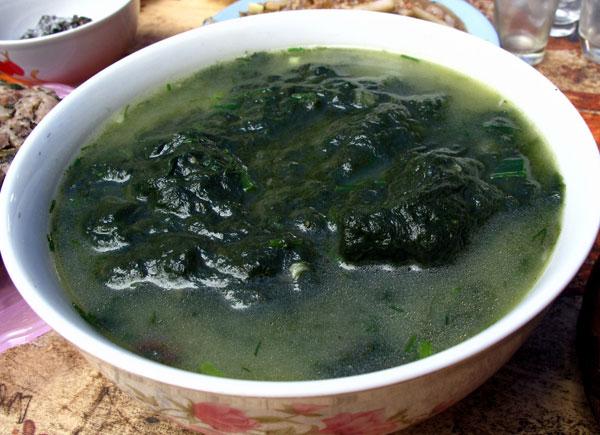 Món canh rêu suối tươi mát luôn khiến người ăn nhớ mãi không quên (ảnh: internet)