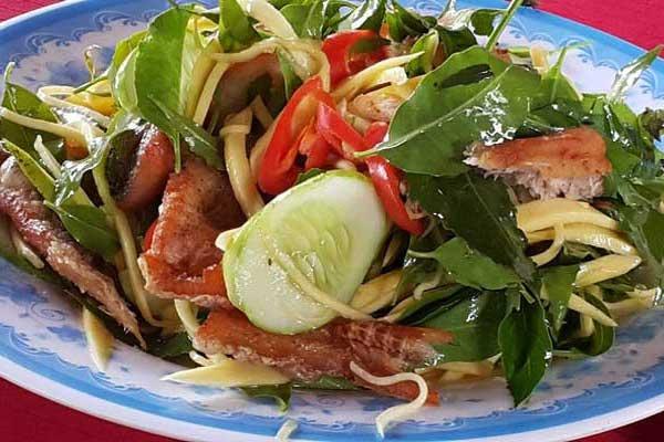Gỏi sầu đâu khô cá lóc - Đặc sản An Giang (Ảnh nguồn Internet)