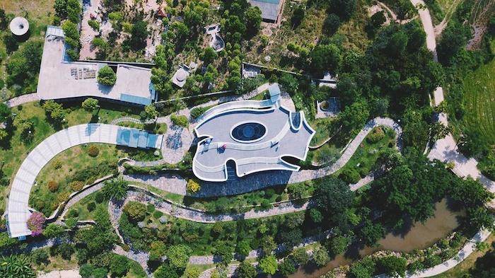 Không gian nghệ thuật Lê Bá Đảng nhìn từ trên cao. Ảnh: vnexpress.net