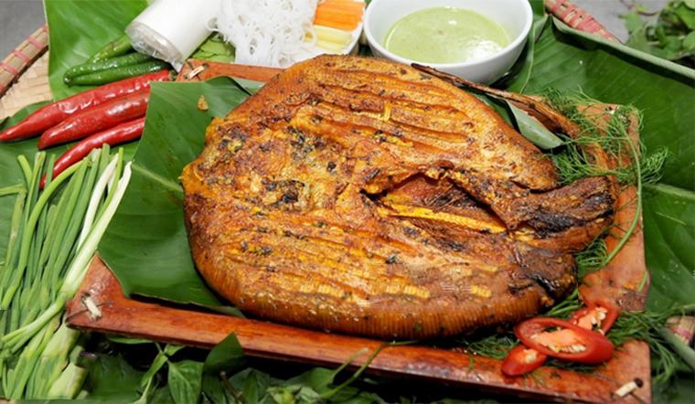 Thưởng thức cá đuối nướng với một hương vị lạ
