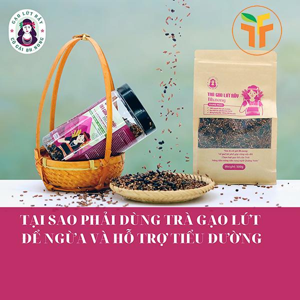 Trà gạo lứt rẫy BH.NÔNG (túi)
